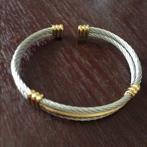 Jewelry - Braided silver and gold bracelet